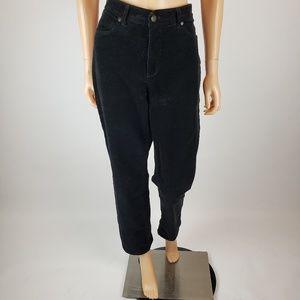 Talbots Black Corduroy Ankle Pants 12